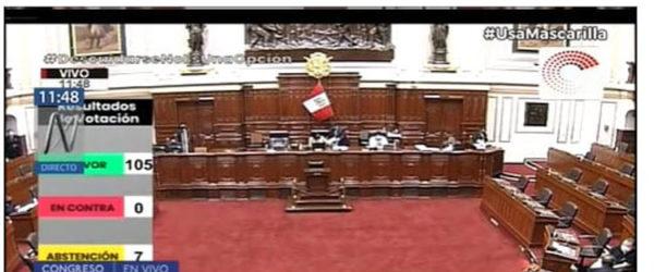 Congreso aprobó por insistencia de la ley que elimina el régimen CAS