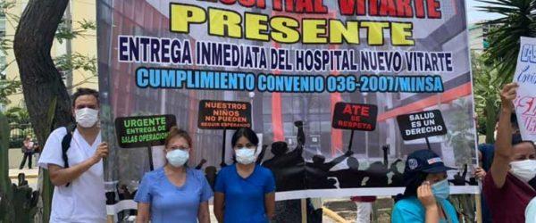 Jornada de la lucha nacional de los gremios del Sector Salud