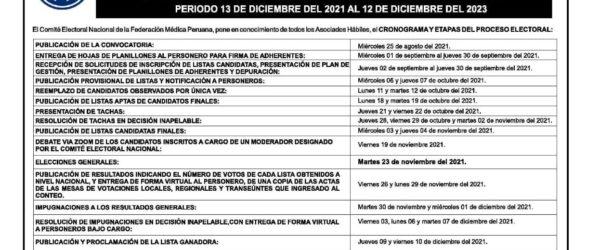 FMP – CONVOCATORIA A ELECCIONES GENERALES PERIODO 2021 – 2023